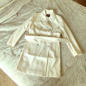 NWT Women's Express White Coat Size L